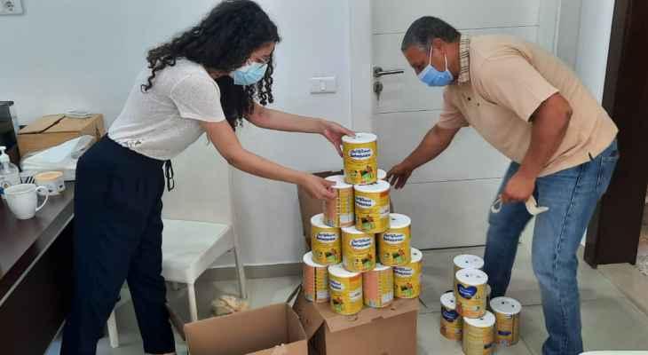 """جمعية """"من حقّي الحياة """" وزعت هذا الأسبوع 200 علبة حليب"""