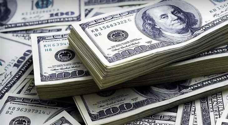 سعر صرف الدولار يعاود الارتفاع مسجلا 18400 ل للمبيع و18500 ل للشراء