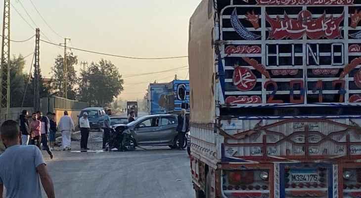 النشرة: سقوط 9 جرحى بحادث سير على طريق دير زنون