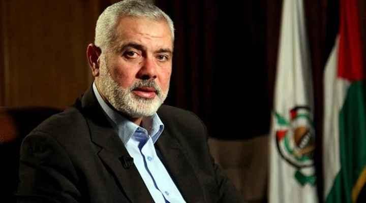 """حركة """"حماس"""" تعلن إعادة انتخاب هنية رئيسا لمكتبها السياسي"""
