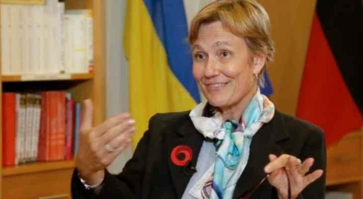 السفيرة الألمانية في أوكرانيا: هناك مخاوف من اندلاع صدام مسلح مع روسيا