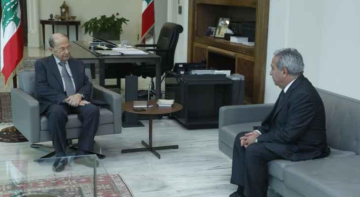 الرئيس عون عرض مع مشرفية حاجات المؤسسات السياحية في ظل أزمة المحروقات