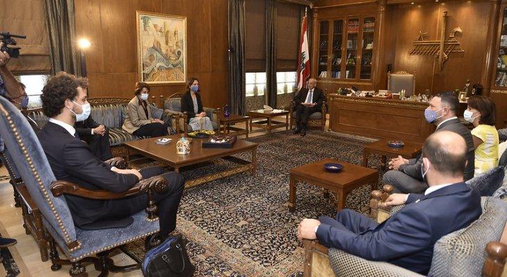 بري التقى لاكروا ووفدا من مجلس الشيوخ الفرنسي وعرض مع برغر للعلاقات بين لبنان وألمانيا