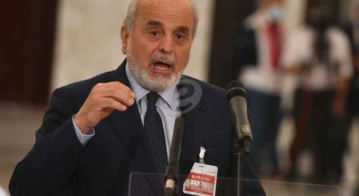 حردان: لتشكيل حكومة سريعا لمعالجة الملقات الملحة وعلى لبنان الانفتاح على العمق العربي