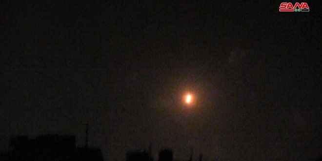 سانا: الدفاعات السورية تصدت لعدوان إسرائيلي على منطقة القصير بريف حمص