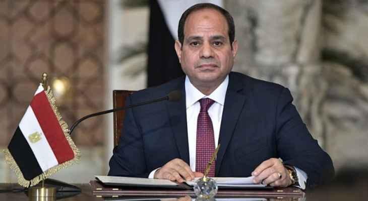 السيسي: حصة مصر من مياه النيل لن تقل ونحن نواجه مشكلة بسبب الزيادة السكانية