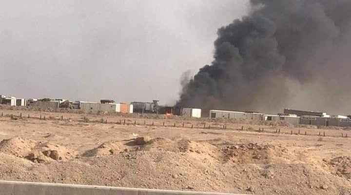 فرقة الإمام علي بالحشد: تعرضنا لضربتين جويتين في النجف الأشرف استهدفتا حاويات عتاد