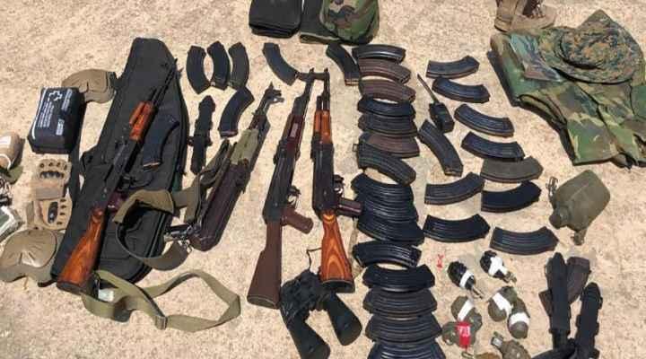 مصدر أمني للـLBCI: الأسلحة والعتاد والتي عرضها الجيش بالصور تمت مصادرتها عند جسر الأولي