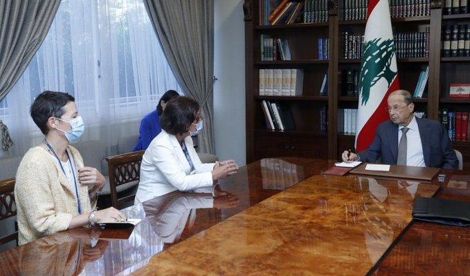 الرئيس عون عرض مع رشدي دور الأمم المتحدة في المساعدة على التخفيف من معاناة اللبنانيين