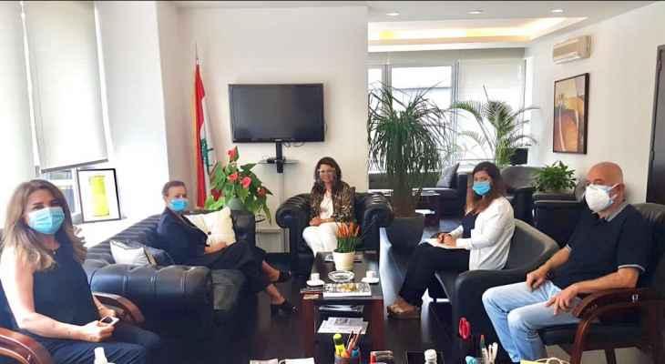 شريم بحثت مع منسقة الأمم المتحدة في لبنان استراتيجية التنمية التي تعمل عليها وزارة المهجرين