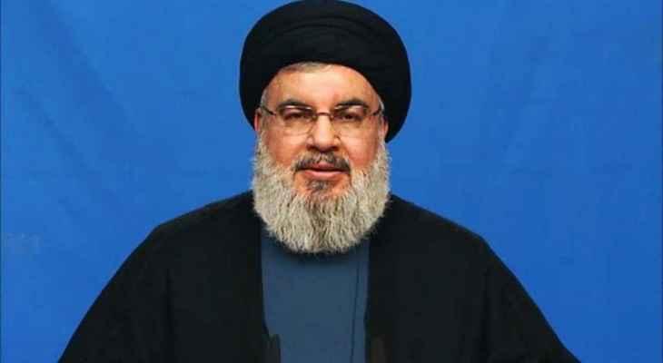 السيد نصر الله: أزمة الحكومة هي نتاج ازمة النظام بلبنان وحتى اليوم من غير المفهوم ما يجري بموضوع البنزين