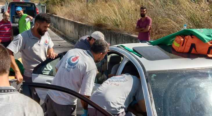 النشرة: جريحان جراء حادث سير على طريق الخردلي في النبطية