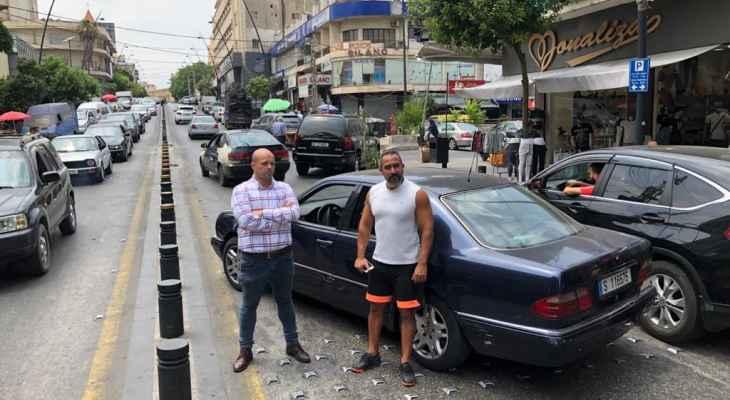 النشرة: قطع طريق رياض الصلح الرئيسي في صيدا احتجاجا على انقطاع التيار الكهربائي