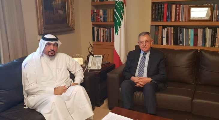 السنيورة استقبل سفير قطر وبحث معه الأوضاع الراهنة في لبنان