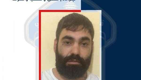قوى الأمن عممت صورة موقوف أقدم على عدة عمليات نشل وسلب ضمن جبل لبنان